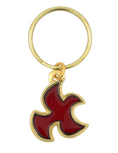 Confirmation Dove Gold Toned Keychain, 2 3/4 Inch