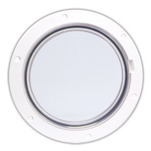 Beckson Marine DP61-W-C Clear Center Pry - Out Deck Plate, (Pry Out White Deck Plate)
