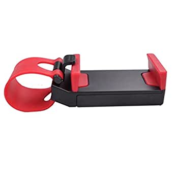 DDLBiz Car Steering Wheel Universal Mount Holder Stand for Cell Phone GPS