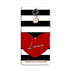 Cover it up Love Stripes Hard Case for Lenovo K5 Note - Multi Color