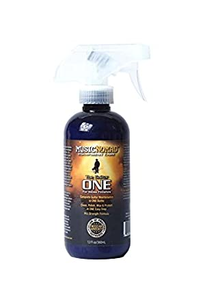 MusicNomad MN103 The GuitarOne-All in 1 Cleaner, Polish, Wax-4 Fl -Ounce