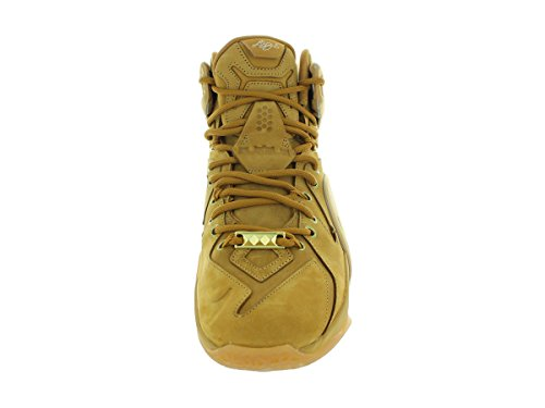 Zapatillas hi nike lebron XII EXT QS s 744287 zapatillas de deporte de los zapatos Wheat Metallic Gold/Wheat