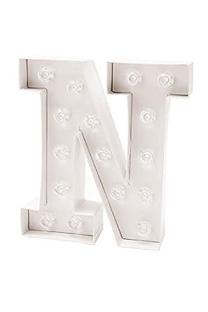 LED Buchstabe | in dekorativer LED Lichterkette weiß Buchstaben ...