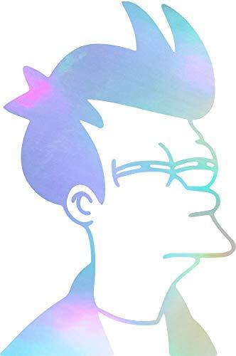 ANGDEST Cartoon Fry Futurama (Hologram) (Set of 2) Premium Waterproof Vinyl Decal Stickers for Laptop Phone Accessory Helmet Car Window Bumper Mug Tuber Cup Door Wall -