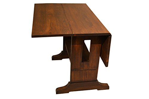 Crafters & Weavers Drop Leaf Solid Oak Arts & Crafts Dining Table (Weavers Furniture Amish)