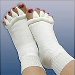 Minjie Comfy Toes Foot Alignment Socks Toe Spacer Relaxing Comfort - Large/X-Large