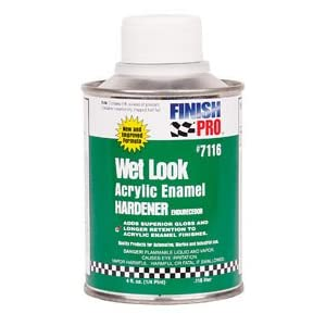 Wet Look Acrylic Enamel Hardener, 1/4-Pint