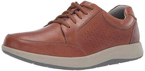CLARKS Men's Shoda Walk Waterproof Sneaker, Tan Leather, 90 W US
