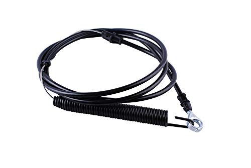 Podoy 532435110 Clutch Cable for Husqvarna Poulan Lawn Tractor Blade Cable with Spring Assembly 435110 408319 532408319 (Cable Tractor Blade Lawn Clutch)