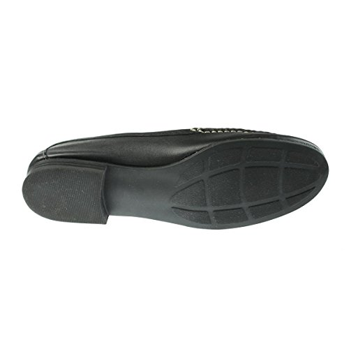 sko Naturalizer Kvinners Simmons Lær Moc Tå Loafers Svart 8,5 Medium (b, M