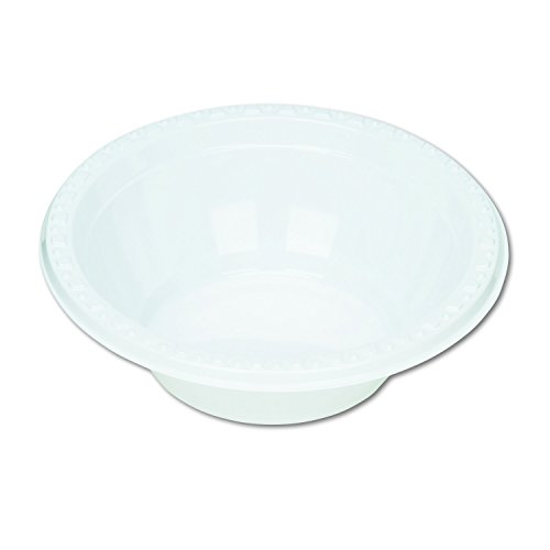 Tablemate 5244WH Plastic Dinnerware, Bowls, 5 Oz, White, Pack of 125 -