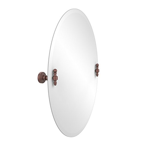 - Allied Brass RW-91-CA Frameless Oval Tilt Mirror with Beveled Edge Antique Copper
