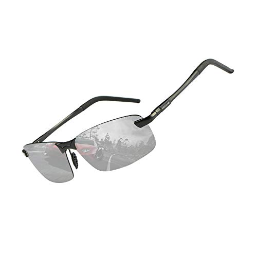 MOORAY Mens Sports Polarized Sunglasses UV Protection Fashion Sunglasses for Men Fishing Driving (01-Silver ()