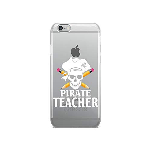 iPhone 6/6s Pure Clear Case Crystal Clear Cases Cover Teacher Pirate Skull Pencil Funny Halloween Transparent]()