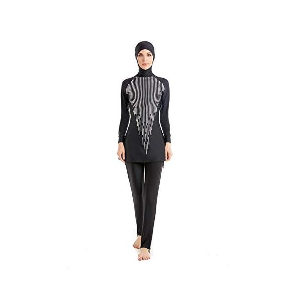 eb602cb59ddc0 Modest Muslim Swimwear Islamic Swimsuit For Women hijab swimwear full  coverage swimwear muslim swimming beachwear swim suit - Halal