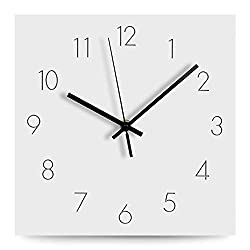 FlorLife Large Number Wall Clock, 12 Silent Non-Ticking Quartz Decorative Analog Clock, Simple European Modern Style Supply for Living Room, Home, Office - Battery Operated