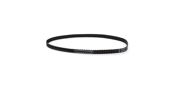 "210XL 105 Teeth 10mm Width Black Rubber Cogged Timing Belt 21/"" Girth"