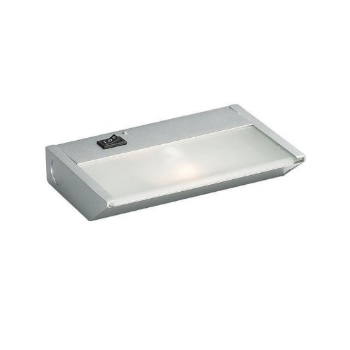Kichler  12011SI Task Work Direct Wire 7-Inch 1 -Light 120-volt  Xenon Under Cabinet Fixture, Silver Finish with Glass Diffuser ()