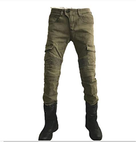 Protect XIMIO Men Breeches Pants Motorcycle Pant Bicycles Offroad Offroad Pants Army Green -