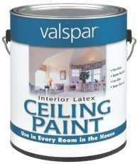 Valspar Paint 1426 Interior Latex Ceiling Paint White, 1 gal, 7.75'' x 7'' x 7''
