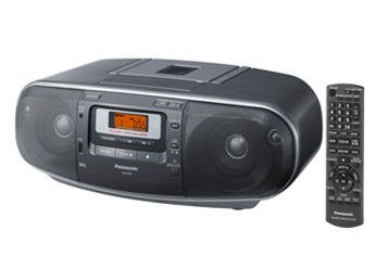 Panasonic RX-D55GC-K Boombox – High Power MP3 CD AM/ FM Radio Cassette Recorder with USB & Music Port Sound with 2-Way 4-Speaker (Black) by Panasonic
