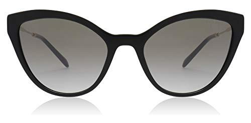 Miu Miu MU03US 1AB5O0 Black MU03US Cats Eyes Sunglasses Lens Category 2 Size 55 (Miu Miu Black Sunglasses)