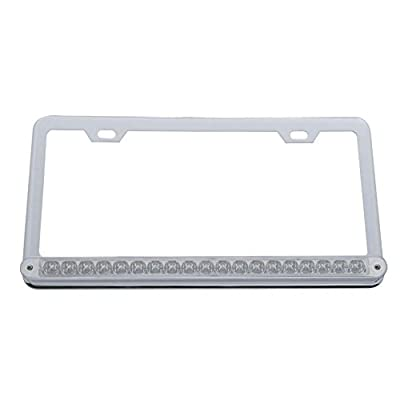 United Pacific 37948 19 Led Reflector Light Bar License Frame - Amber Led/Clear Lens: Automotive