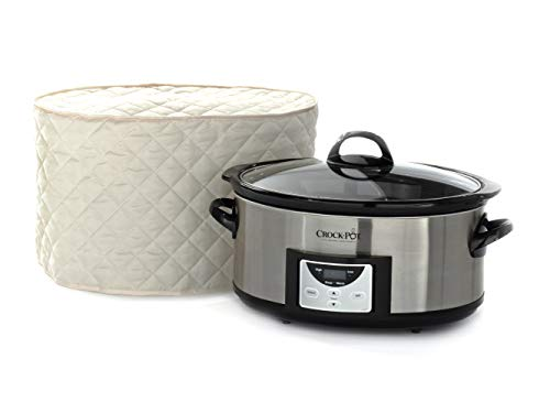 Covermates – Slow Cooker Cover – 17W x 12D x 17H – Diamond Collection – 2 YR Warranty – Year Around Protection – Cream