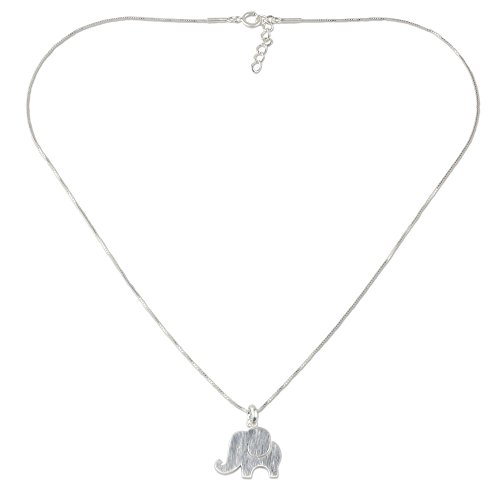 NOVICA .925 Sterling Silver Pendant Necklace, 18