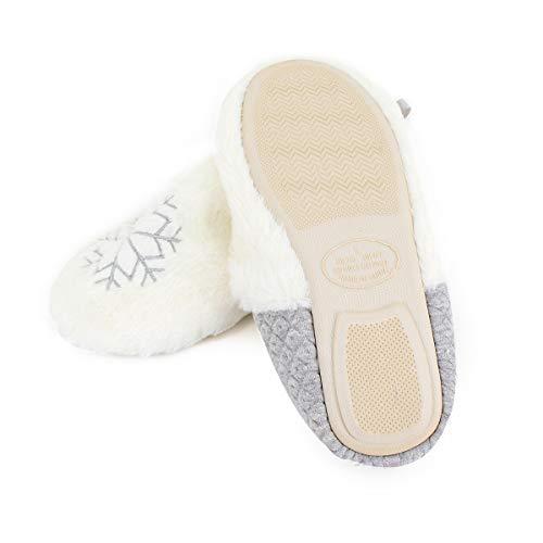Fleece Gray Cozy Indoor Comfort Home Mily Warm Plush Slippers Women Slippers q6Uann1t