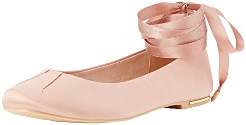 Dorothy Perkins Henley Ankle Tie, Bailarinas Mujer Pink (Peach)