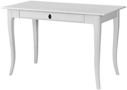 Unbekannt IKEA Escritorio leksvik en Blanco Madera Maciza: Amazon ...