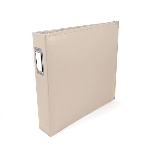 12 x 12-inch Classic Leather 3-Ring Album by We R Memory Keepers | Greige, includes 5 page protectors by We R Memory Keepers