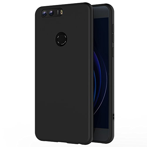 incontrare 3331f 56682 AICEK Honor 8 Case, Black Silicone Cover for Huawei Honor 8 Black Case