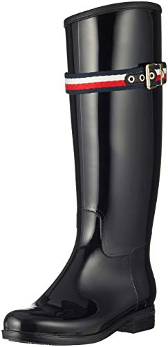Damen Boot Hilfiger Stiefel Tommy Rain Belt Long Hohe Corporate 5xPxYwqdO