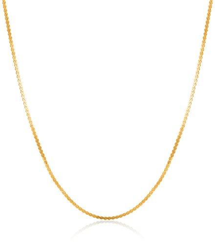 14k Yellow Gold Lightweight Serpentine Chain 0.8mm Chain Necklace, ()