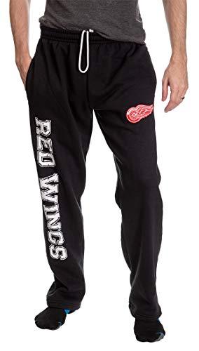 NHL Men's Premium Fleece Official Team Sweatpants (Detroit Red Wings, X-Large)
