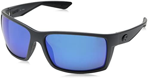 d4adf706b3d0 Amazon.com : Costa Del Mar RFT98OBMP Reefton Sunglass, Matte Gray Blue  Mirror : Sports & Outdoors