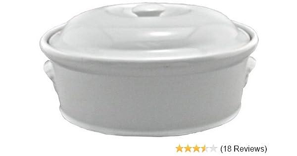 White BIA Cordon Bleu 4-Quart Oval Casserole