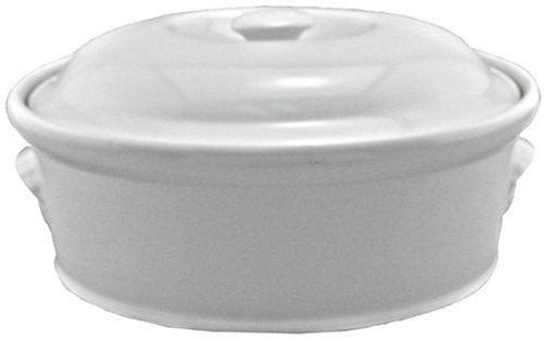 BIA Cordon Bleu 4-Quart Oval Casserole, White 4 Qt Stainless Covered Casserole