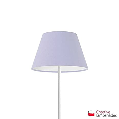 Creative Lampshades Abat-Jour Empire Revê tement Toile Lilas - 2pcs Diam. 14-8cm - H. 9.5cm, E14 pour Suspension, Non