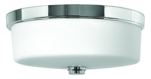 Light Ocho 3 (Hinkley 5421CM Transitional Three Light Bath Flush Mount from Flush Mount collection in Chrome, Pol. Nckl.finish,)
