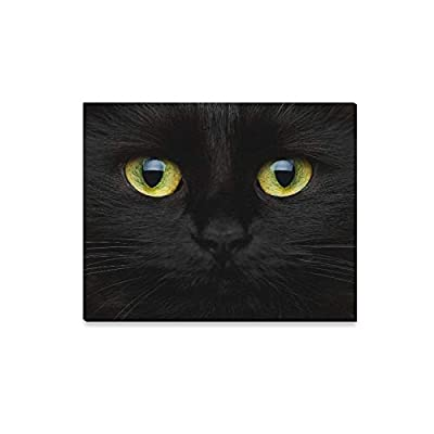 ENEVOTX Wall Art Painting Happy Halloween Cute Muzzle Black Cat Prints On Canvas The Picture Landscape Pictures Oil for Home Modern Decoration Print Decor for Living Room: Home & Kitchen