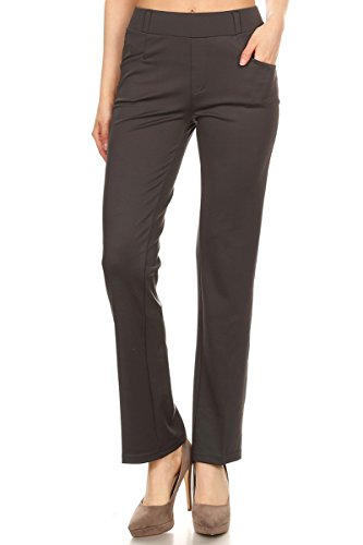 leggings-depot-womens-all-around-comfort-office-slimming-pants-large-charcoal-gray