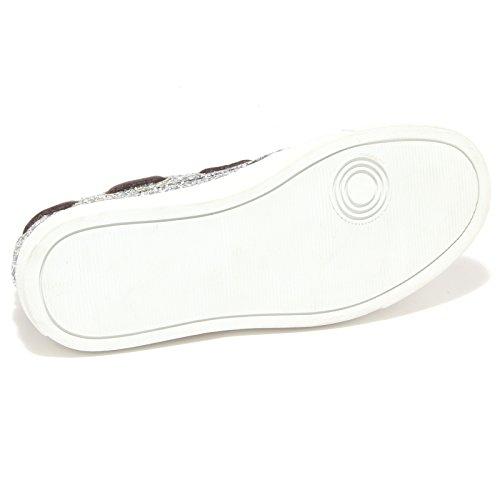 5378O shoe P448 donna glitter argento woman mocassino Argento rSAOr