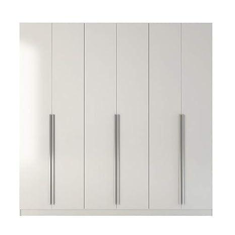 Manhattan Comfort Eldrige Collection 6 Door Freestanding Wardrobe Closet  for Bedroom Use, 90\