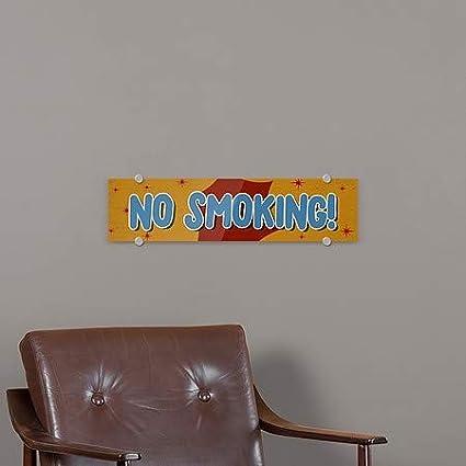 24x6 5-Pack CGSignLab No Smoking Nostalgia Burst Premium Brushed Aluminum Sign