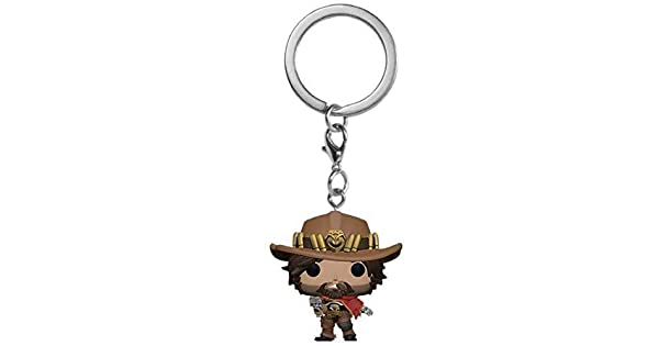 Amazon.com: Funko Pop! Llavero: Overwatch – McCree: Toys & Games