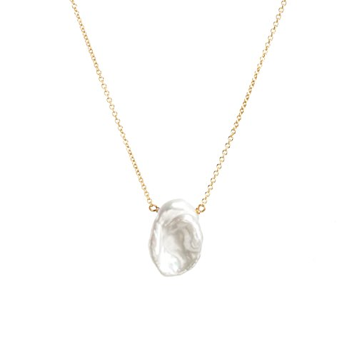Dogeared Reminder One In A Million, Lrg Keshi Pearl Gold Chain Necklace, 18