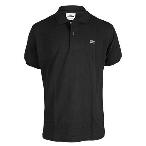 (Lacoste Men's Short Sleeve Pique L.12.12 Classic Fit Polo Shirt, Black, 7)